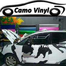 Black White Snow Camouflage Wrap Vinyl Arctic Camouflage Vehicle Wraps Film Sticker Air Release Matte/Glossy Finish