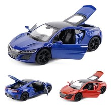 New 1:32 Scale Honda Acura NSX Metal Alloy Diecast Car Model Miniature Model With Sound Light Model Car Toys For Children Gifts