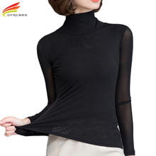 Buy Plus Size Women Clothing Chiffon Blouse Tops Woman 2018 Long Sleeve Ladies Blouses Body Shirt Turtleneck blusa feminina for $8.07 in AliExpress store