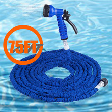 25-125 FT Expandable Magic Flexible Hose Water For Garden Car Pipe Plastic Hoses With Spray Gun Drip Watering Garden Hose(China)