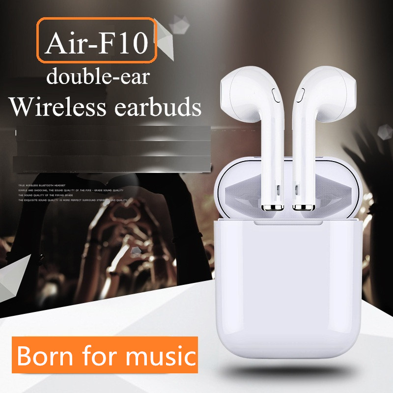 New Air-F10/Air-8X mini wireless bluetooth earbuds Headphones pods headsets not Air pods Earphone for Android iPhone X/8/7s/7 <br>