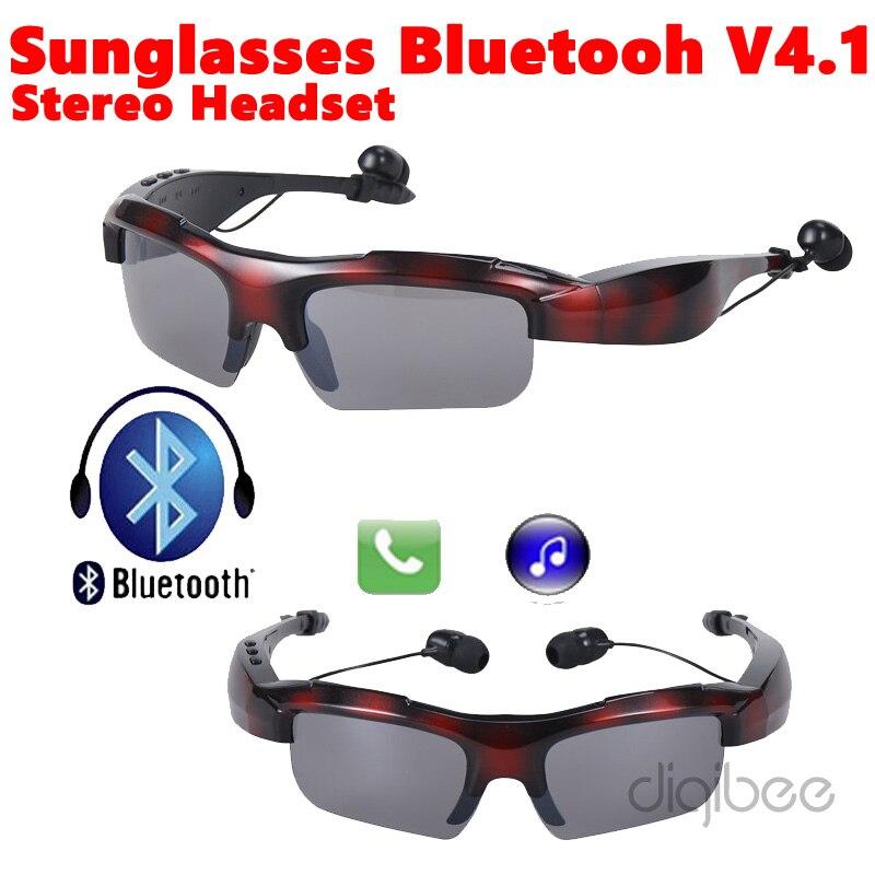 2016 Newest Sport Wireless Sunglasses Bluetooth V4 1 Headset font b Headphone b font Music Call