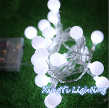 5M led string lights with 50led ball holiday decoration lamp Festival Christmas lights outdoor lighting