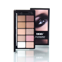 New Brand Makeup Palette Natural Eye Makeup Light Ten Colors Eye Shadow Makeup Shimmer Matte Eyeshadow Palette Set by MYG(China)