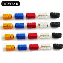 DSYCAR 4Pcs/lot Universal Car Moto Bike Tire Wheel Valve Cap Dust covers Car Styling for Fiat Audi Ford Bmw toyota VW opel mazda