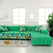Green L Shape Sofa Covers For Living Room 2pcs Cushion Covers 100% Polyester Corner Sofa Covers 2pcs Sofa Slipcovers Multi-size