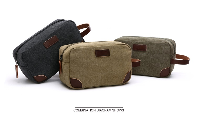 Canvas Travel Bag Toiletry Organizer Shaving Dopp Kit Travel Cosmetic Bag Makeup Men Handbag Casual Zipper Wash Cases Women 4