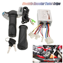 Speed-Controller Motorcycle Scooter Bike 24V Brushed Throttle Twist-Grips Electric 500W