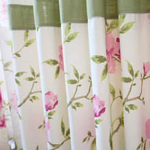Curtains for Living dining room bedroom fresh cotton texture color curtain screens rural bedroom product customization flower