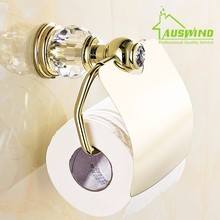 Europe Gold Brass Polished Toilet Paper Holder Antique Crystal Roller Holder Tissue Holder Bathroom Accessories Products
