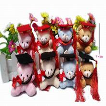 6pcs 2016 models sitting height Plush Bear graduate student graduation gift section brinquedos kawaii juguetes bears monkeys