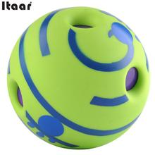Hot Intresting Ecofriendly No Harm Wobble Wag Giggle Ball Dog Training Pet Toys With Funny Sound Make Dogs Happy