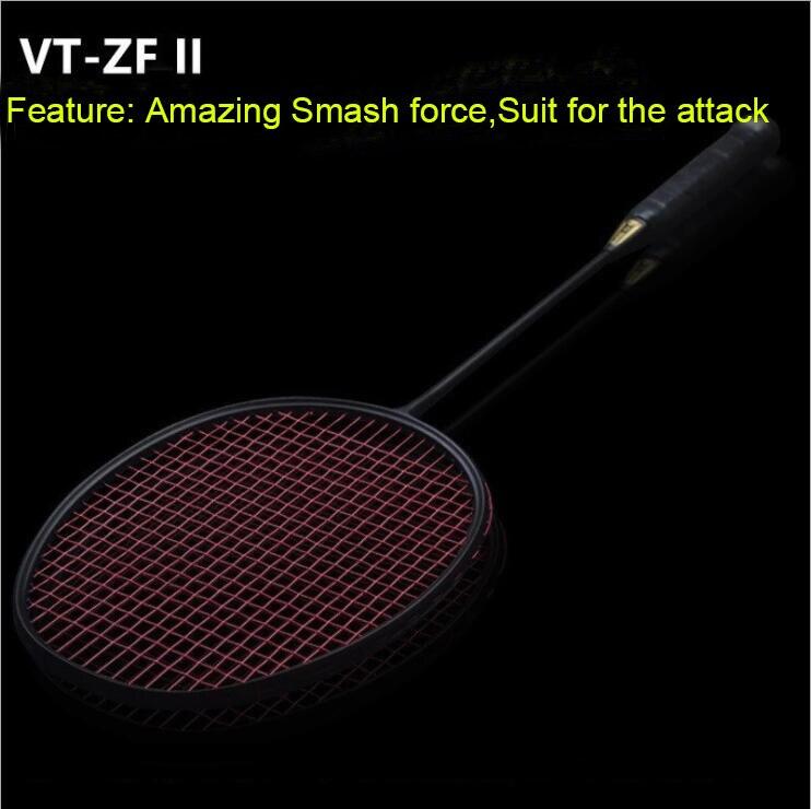 1 PC ZARSIA 4U 82g  VT-ZF2 black Badminton racket, Attack Badminton Racket quality carbon racket<br>