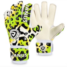 Janus JA939  Child Professional Football Goalkeeper Gloves Soccer Glove Keeper Finger Protection Colorful leopard Kids Boy