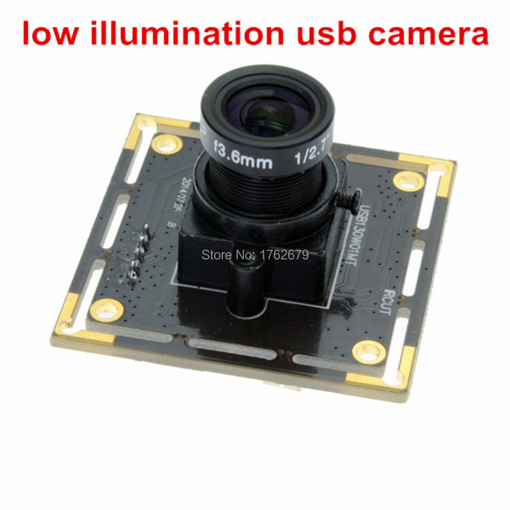 38*38mm HD 1.3MP 12mm lens Black And White UVC Linux Android Windows plug and play mini usb camera module for pc computer<br>