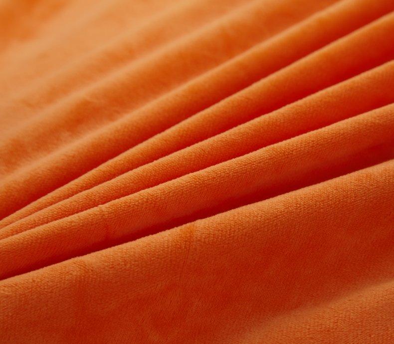 3Pcs Fleece Bed Skirt Set W/ Pillowcases, Mattress Protective Cover 35