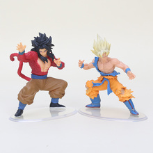 2pcs/set Dragonball Dragon ball Z Kai GT Figure Toy Styling Figurine Super Saiyan 4 Goku Gokou PVC Action Figure Model Toys