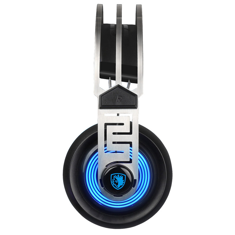 Sades A7 USB Gaming Headset Headphones 7.1 Stereo Surround Sound Earphone Game Headphone with Microphone Led for PC Laptop Gamer (3)