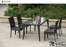 Rattan chair and coffee table casual outdoor furniture balcony garden rattan table and chairs LT07