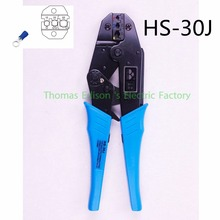 NEW Model FREE SHIPPING HS-30J HS-40J EUROP STYLE ratchet crimping tool crimping plier 1-6.0mm2 DIE SETS(China)