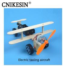 CNIKESIN DIY Kits Electric Taxiing Aircraft DIY Science and Technology Manual Material Package Popular Science Model(China)