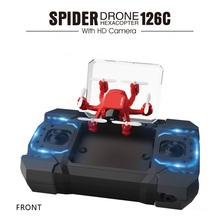Newest Idea 6 AXIS Pocket Small rc Drone Headless 3D-flip remote control helicopter with 2.0MP Camera Adjust The Angle vs CX-10(China)
