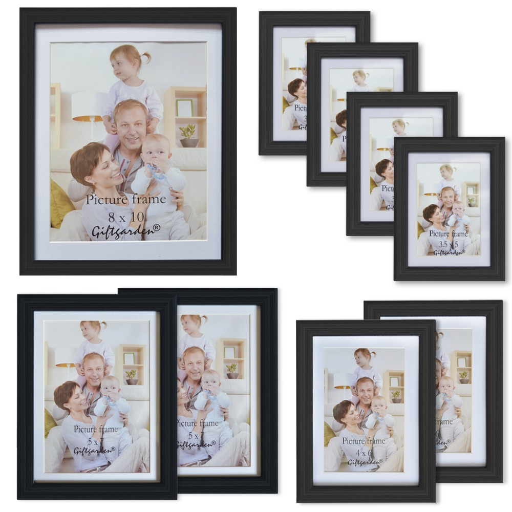 Best Giftgarden Black Wall Picture Frame Set Of Pvc Lens Wood ...