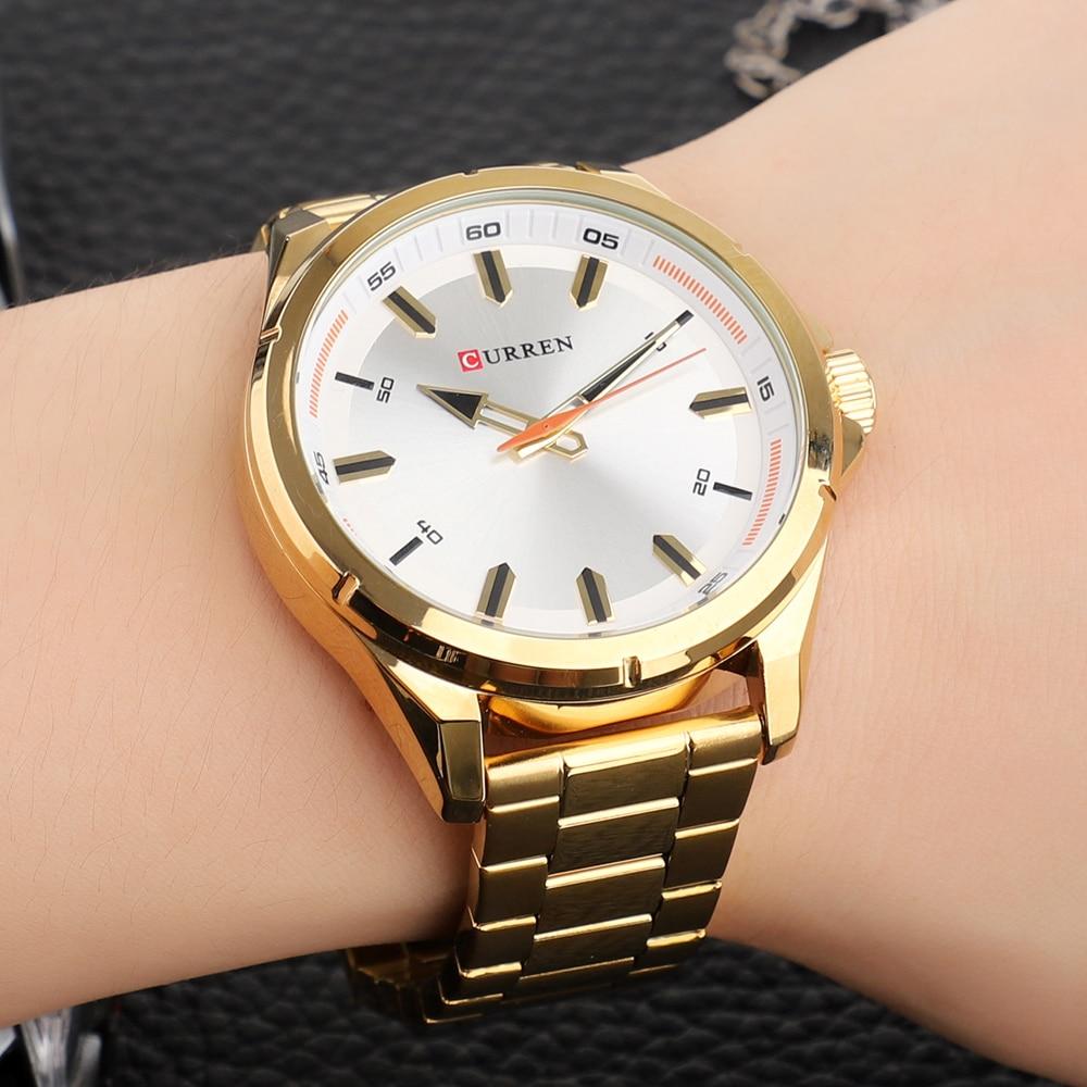 CURREN Fashion Men\\\'s Watch with Stainless Steel Strap Simple Creative Quartz Wristwatch for Men Clock erkek kol saati Waterproof 2019 (27)