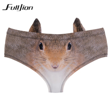 Buy Fulljion New Fashion 3D Printed cartoon animal Femme Sexy Underwear Women Calcinha Feminina Ears Cute Panties briefs thong