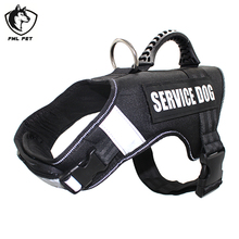 FML Pet Shop SERVICE DOG Large Dog Harness Vest For Small Large Dogs Puppy Harness Dogs Pets Supplies(China)