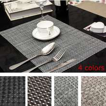 30cmx45cm PVC Waterproof Placemats Pads Woven Heat Insulation Table Mat Home Kitchen Dining Table Decoration Houseware Coasters