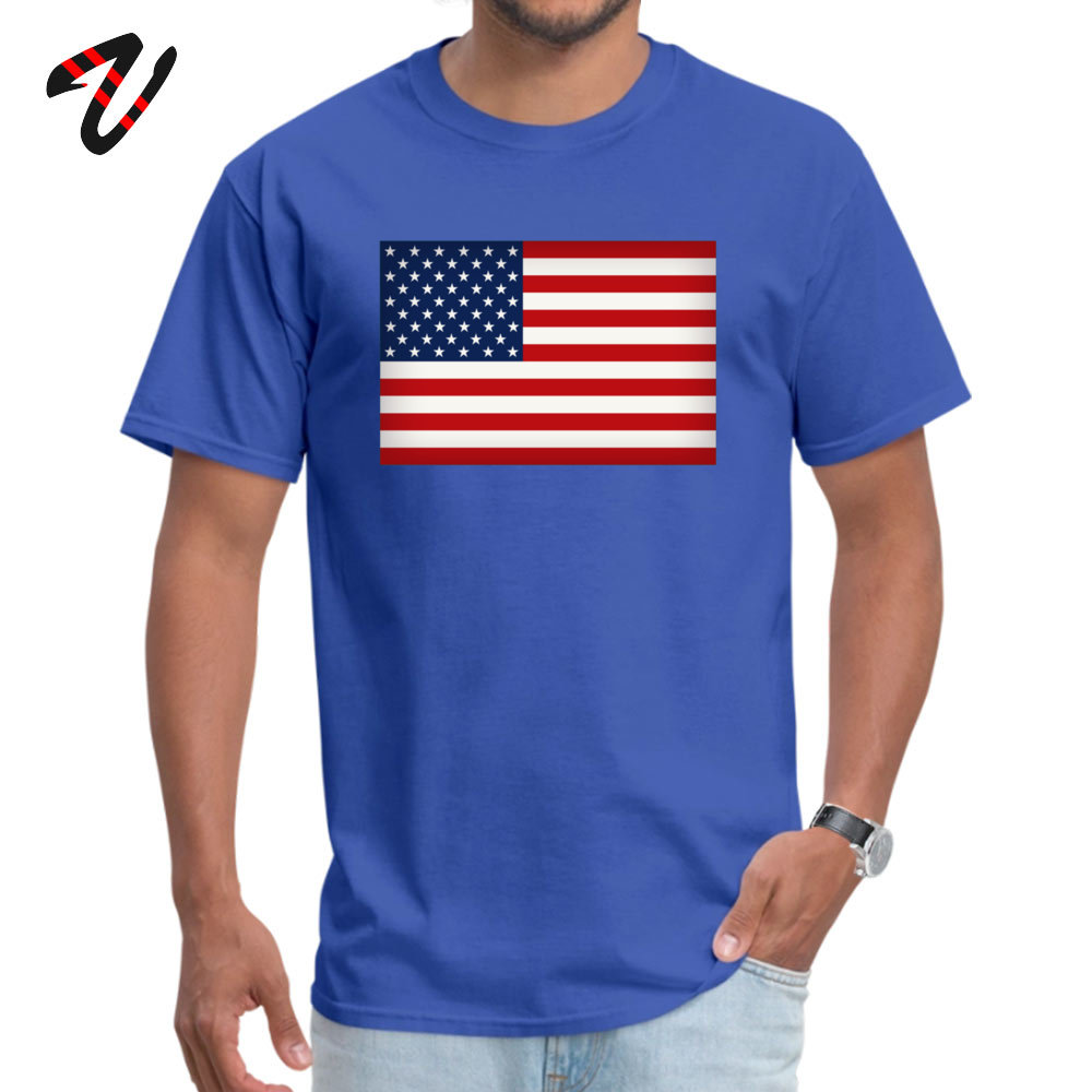 Funny American Flag T-Shirt New Arrival Summer Fall Short Sleeve Round Collar T Shirt 100% Cotton Fabric Men 3D Printed T Shirts American Flag 5782 blue
