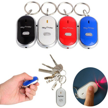 Anti-Lost Wireless Key Finder Locator Keychain Whistle Sound LED Light Torch controlled Sound Control Electronic Find Key chains