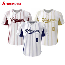 Original Kawasaki Custom Kids Fans Baseball tOP Jersey Stripes Classic Hip Pop Style Youth Breathable Softball Shirts Jerseys