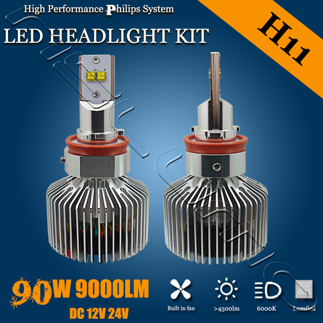 Factory Newest Wholesale price 9000LM adjustable H11 led headlight Auto lighting 90W H11 headlight led with Ph ilips chips<br><br>Aliexpress