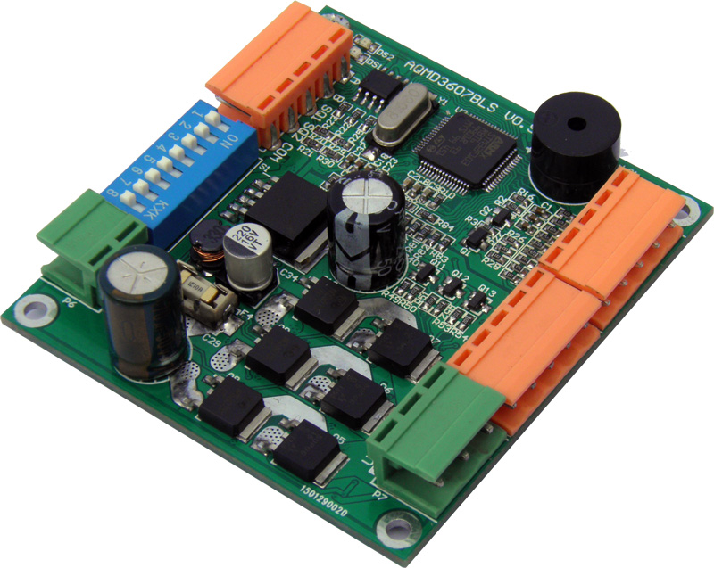 180W 12/24/36V brushless DC motor drive current / speed / position PID control<br>