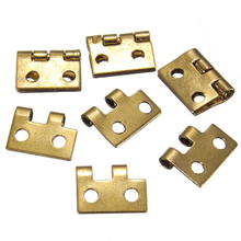 10Pcs 1/2 Mini Cabinet Drawer Butt Hinge Copper Gold Small Furniture Hinges Woodworking Home Tools Hardware 10*8MM Mayitr(China)