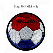 Soccer Ball Holland embroidery patch 50.8 MM wide / windmill/sticker/hot melt(China)