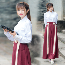Autumn New Bamboo leaf embroidery Women Dress Long Sleeve Chinese Clothing Dresses L7530(China)