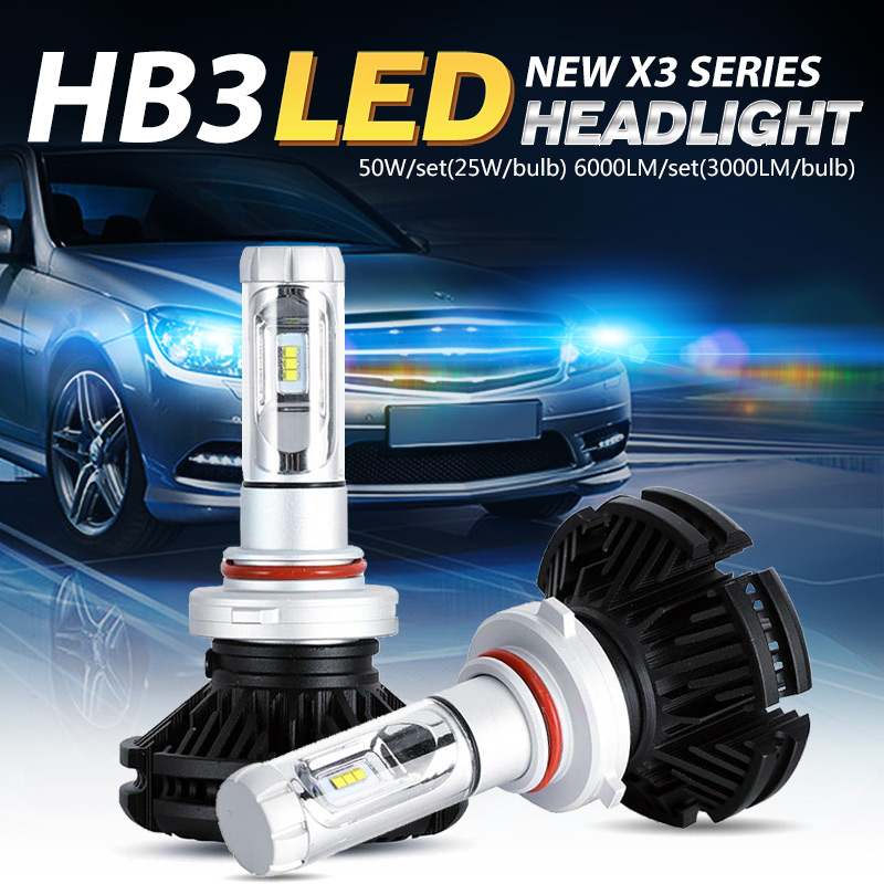 Oslamp CREE Chips SUV HB3 9005 LED Headlight Kits Auto Driving Car Bulbs 50W/Pair All-in-one Fog Lamps Fanless 3000K 6500K 8000K<br><br>Aliexpress