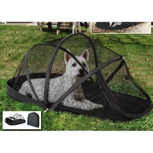 New Arrival Pet Dog Cage Portable Dog House Outdoor Puppy Cat Tent Folding Dog Tent with Mosquito Net Puppy Beds Kennel(China)