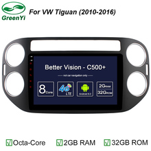 GreenYi 2GB/32GB 9 Inch Auto PC For Volkswagen VW Tiguan 2011 2012 2013 2014 Car DVD Player Octa Core Android 6.0 Car DVD Player(China)