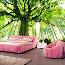 Buy beibehang Forest Scenic warm sun mural papel de parede 3d wallpaper living room bedroom TV backdrop wall paper flooring for $14.70 in AliExpress store