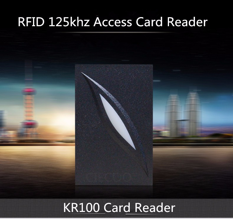 11.11 Mini size IP65 waterproof RFID card reader EM card reader for access control 125KHZ smart card reader ZK software KR101<br>
