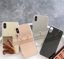 Buy Gold Luxury Plating Bling Soft Mirror Case iPhone 7 8 Plus 6 6s Plus X 5 5S Soft Clear TPU Cover iPhone X 8 7 6 6S Plus for $1.01 in AliExpress store