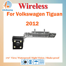 Wireless 1/4 Color CCD Rear View Camera / Wireless Parking Camera For Volkswagen Tiguan VW 2012 Night Vision / 170 Degree