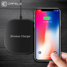 CAFELE Qi Wireless Charger For iPhone X 10 8 Plus Samsung S8 S7 edge Fast Universal Wireless Charging Pad Charger For iPhone X 8(China)