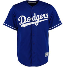 Men and Women's Los Angeles Dodgers White Blue Grey Home Cool Base Jersey(China)