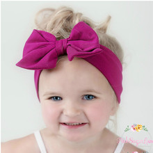 Newest Baby Cotton Big Bow Headband 10Colors Cute Child Girls Pink Wide Hair Bows Kids Birthday Soft Hair Accessories Head Wrap