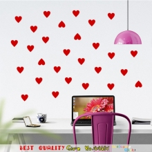 DIY Heart Wall Stickers Black Red White Love Home Decal Girl Room Decor Wall Mural Art Sticker Kitchen Glass Window Decor